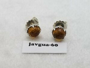 DAVID YURMAN Chatelaine Earrings with Citrine, 10mm Sterling Silver 925