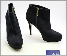 ZU WOMEN'S HIGH HEELS ANKLE HIGH PLATFORM FASHION BOOTS SIZE 8