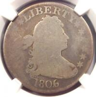 1806/5 Draped Bust Quarter 25C Coin - Certified NGC Good Details - Rare Coin!