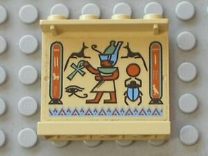 LEGO Tan Panel 1x4x3 Egyptian Right Ref 4215pb014 Set 5938 Oasis Ambush