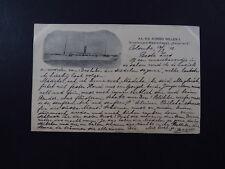 Postcard Netherlands Ship Stoomvaart Maatschappij S.S.Koning Willem II Amsterdam