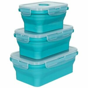 Trespass collapsible silicone lunch boxset