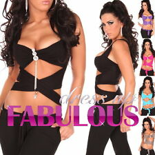 NEW SEXY WOMEN'S TOP Size 6 8 10 LADIES HOT CLUBBING DANCE SHIRT WEAR XS S M