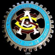 SWISS AUTOMOBILE CLUB - AUTOMOBILE CLUB OF SWITZERLAND CAR GRILLE BADGE EMBLEM