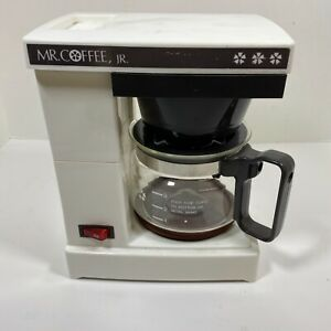 Vintage Mr Coffee Model JR-4 White 4 Cup Automatic Brewing System