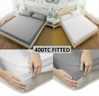 400TC THREAD COUNT 30CM DEEP FITTED SHEET 100% EGYPTIAN COTTON DOUBLE KING SIZE