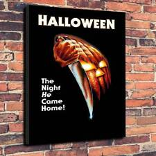 """Halloween Movie Canvas Print A1.30""""x20"""" 30mm Frame Michael Myers Classic Horror"""