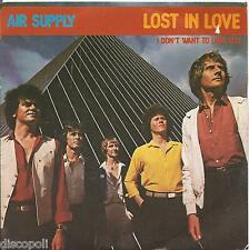 """AIR SUPPLY - Lost in love - VINYL 7"""" 45 ITALY 1980 NEAR MINT COVER VG CONDITION"""