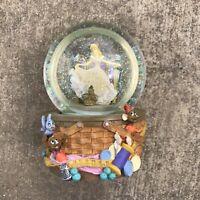 "Disney Cinderella Musical Snow Globe ""Dream Is A Wish Your Heart Makes"" Enesco"
