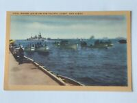 Vintage Linen Postcard Shore Leave Pacific Coast San Diego California 1940's