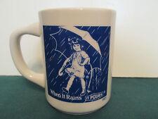 VINTAGE MORTONS SALT 1921 UMBRELLA GIRL ADVERTISING COFFEE MUG CUP