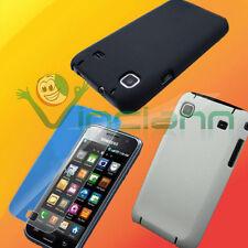 2x Pellicola+2x Custodia per Samsung Galaxy S i9000 i9001 Plus cover bianco nero