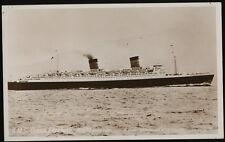 RMS Queen Elizabeth Photo Postcard - Cunard Line