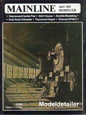 Mainline Modeler Apr 87 D&H Erie Chessie GP40 Thurmond Depot Auto Rack Unloader