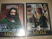 2 DVD LE STORIE DELLA BIBBIA MOSE' 1° E 2° PARTE NEW