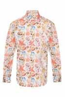 JSS Mens Floral Patterned Floral Paisley Regular Fit 100% Cotton Shirts S-4XL