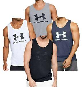 Men's Under Armour Vest Tank Top Sleeveless T-Shirt Singlet - Gym Fitness