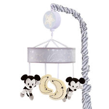 Disney Baby Mickey Mouse Gray/Yellow Musical Baby Crib Mobile by Lambs & Ivy