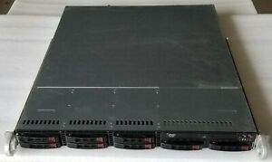 SuperMicro 1U Server Chassis CSE-113MTQ w/ Power Supply, Fans,Backplane,+Rails