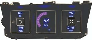 Ford Truck DIGITAL DASH PANEL FOR 1973-1979 Gauges Intellitronix BLUE LEDs!!