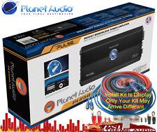 New listing Pl25001M Planet Audio Pulse 2500watt 1 Ch Class A/B Amplifier w-Install Kit