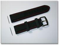 1a Silikonuhrenarmband, schwarz, 22mm Breit, 4mm Dick, schnelle Lieferung (576)