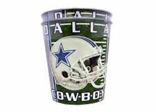 NFL Dallas Cowboys 16-ounce, 2 pack cups Tailgating Party Helmet Stars Grey Blue