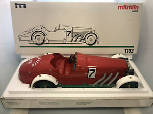 🔴 Märklin 1103 Marklin Mercedes SSKL #7  Clockwork Motor Brand NEW in Box 🔴