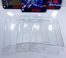 50 SNES / N64 / ATARI JAGUAR Box Protectors Clear Cases  Super Nintendo 64 CIB