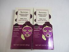 2 AVEENO ABSOLUTELY AGELESS PRE-TOX PEEL OFF MASK 2 OZ EACH JL 7919