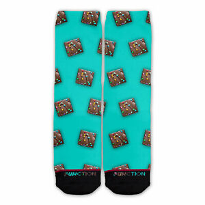 Function - Rainbow Brownie Pattern Fashion Socks Kid Lunch Cookies Tv Dinner