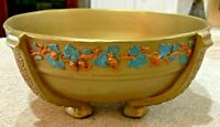 "Vintage Wedgwood Embossed Queen's Ware Queensware Gold Salad Bowl 10"" Dia 4""Tall"