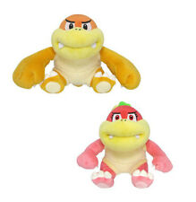 Set of 2 Little Buddy Super Mario All Star 1451 Bun Bun / 1452 Pom Pom Plush
