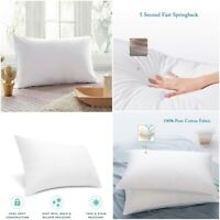 100%EGYPTIAN COTTON FILLED PILLOW SOFT LUXURY HOTEL QUALITY PILLOWS SUPER BOUNCE
