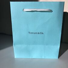 Authentic Tiffany & Co Matte Blue Paper Jewelry Shopping Gift Wrap Bag 6x5x4 USA