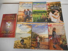 Harlequin Love Inspired Lot 7 books Heartwarming Inspirational Romance Softcover