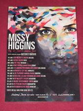MISSY HIGGINS - THE OL' RAZZLE DAZZLE  AUSTRALIAN TOUR  -  PROMO TOUR POSTER