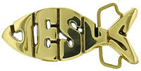 Jesus Fish Solid Brass Belt Buckle