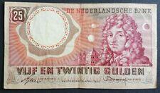 PAYS-BAS - NEDERLAND - BILLET DE 25 GULDEN DU 10/4/1955.