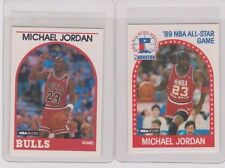 (2) 1989 NBA Hoops Michael Jordan Cards #21 and #200