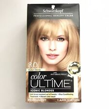 Schwarzkopf 8.0 Medium Blonde Hair Color Ultime Permanent Color New