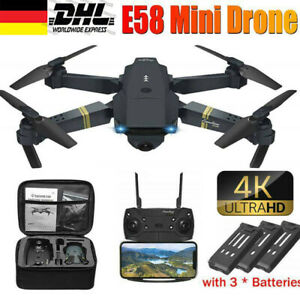 Mini Faltbar WIFI FPV Drohne 3 Batteries HD Kamera Selfie Quadrocopter RC Drone