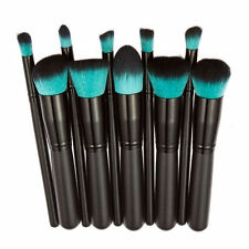 Makeup 10pcs Cosmetic Brush Face Powder Eyeshadow Blush Brushes Set Tools Black