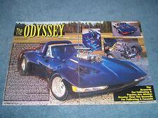 """1966 Corvette Roadster Full Custom Article """"The Odyssey"""" ---From 1995---"""