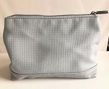 Darphin Silver  Zippered Makeup Bag Cosmetic Case
