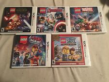 5 LEGO NINTENDO 3DS GAMES, MARVEL/STAR WARS/AVENGERS/MOVIE/CITY UNDERCOVER, NEW