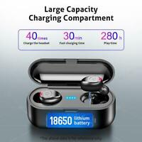 F9 TWS Wireless BT5.0 Earphones IPX6 In-ear Stereo Headset with Charging Box