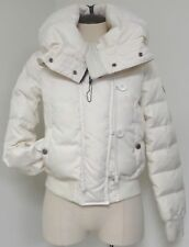 PAJAR WHITE DOWN COAT JACKET DOUBLE ZIP FRONT W BUTTONS & ADJUSTABLE COLLAR HOOD