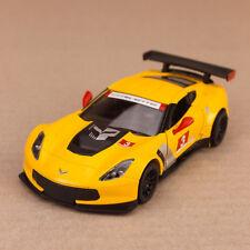 2016 Chevrolet Corvette C7.R Model Car 1:36 12.5cm Diecast Metal Yellow Detailed