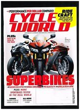 CYCLE WORLD AUGUST 2013 SEE CONTENTS PAGE IN SECOND PHOTO